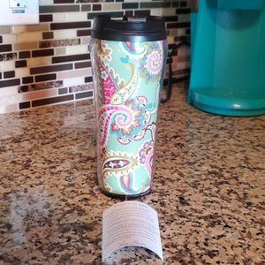 VERA BRADLEY Tutti Frutti Travel Coffee Mug New